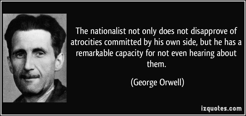 George Orwell on the 'indifference to reality' of the 'nationalist' https://t.co/38PxMfjyaw c @CPMacL2008 #history #politics #literature
