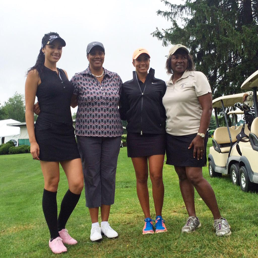 There have only been 6 African American women to ever play on the LPGA tour.  We had 4 of the 6 together today. http://t.co/SMi6qRCDqG