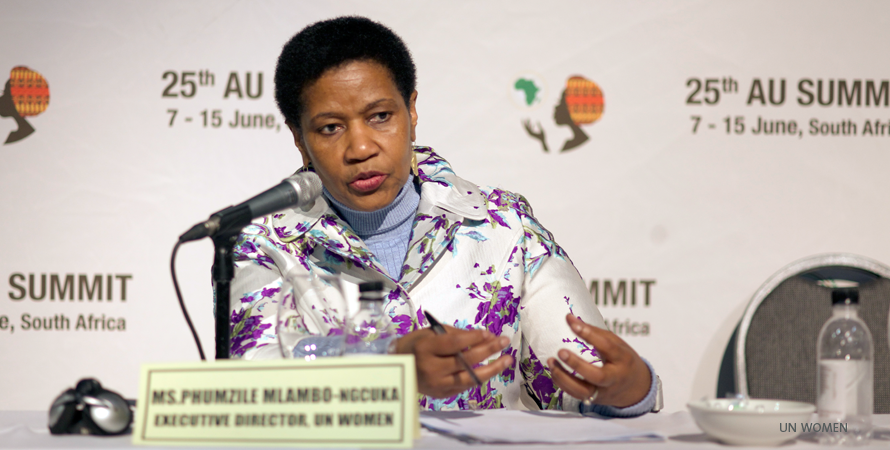 'Stop viewing women as victims but as partners in development'- @phumzileunwomen at #AUSummit http://t.co/Z1vR1vc4HY
