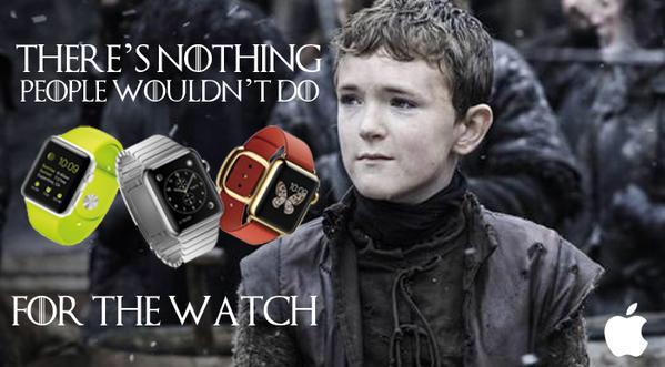 For the watch. Una buena idea de campaña para el Apple Watch. #GoT