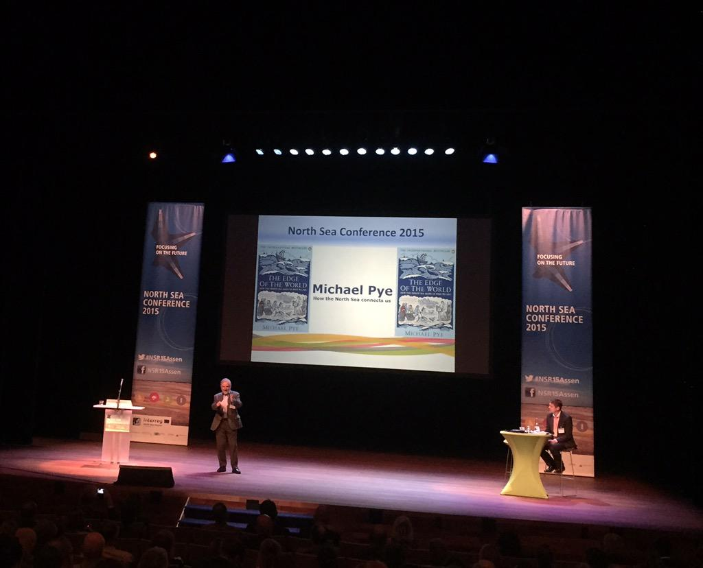 Michael Pye gives an interesting history lesson. Trade has long been important to the North Sea region. #nsr15assen http://t.co/VX7EUiggmu