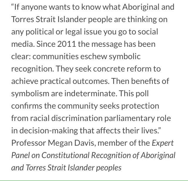Quote from @mdavisUNSW, member of the Expert Panel on Constitutional Recognition: http://t.co/L9Zkg09hvH