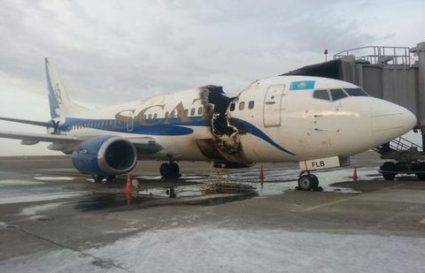 Scat Air Boeing 737 300 Ground Fire During Servicing At