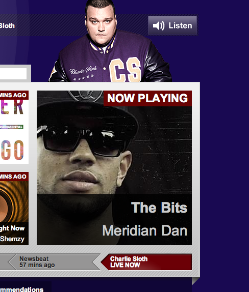 Nuff Love to @CharlieSloth dropping that @Meridian_Dan #TheBits and giving it the PULLLLLLLLLLLLl UP!! #Salute http://t.co/d8HZgE5cDg