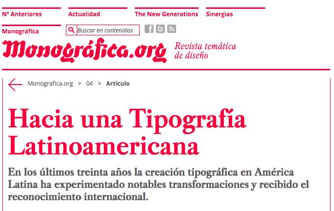 Tipografía 2: «Hacia una tipografía latinoamericana» @monograficaorg @PabloCosgaya http://t.co/heM1p3qgFP #THYTP http://t.co/ViyWs5dYpv