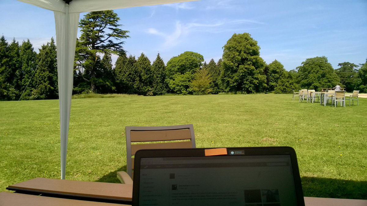 In the al fresco office at @bw_businesswest for #businessgreenweek. It's perked me right up! @GoGreenBristol http://t.co/ywRF3sTlkx