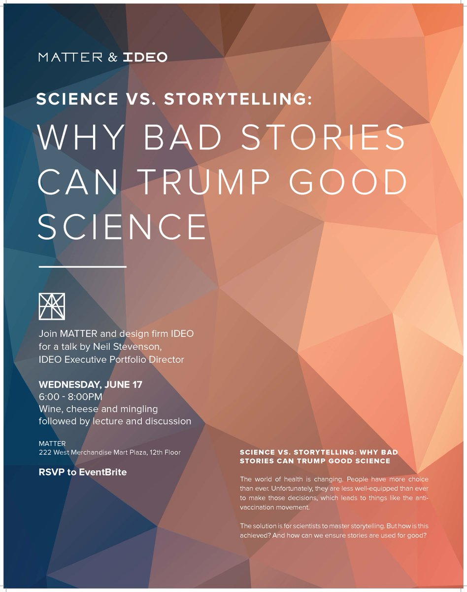 Hear @neilstevenson77 explain why bad stories can trump good science 6.17 @MATTERChicago http://t.co/2ahFotrD2x http://t.co/3ooEFfD6R4