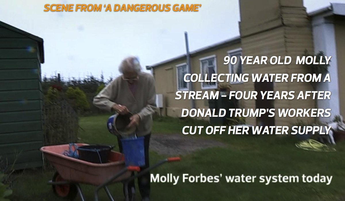 Donald #Trump running for President? This is how how he treated 90 year old Molly in #Scotland: @ADGmovie http://t.co/r21SiNNwGp