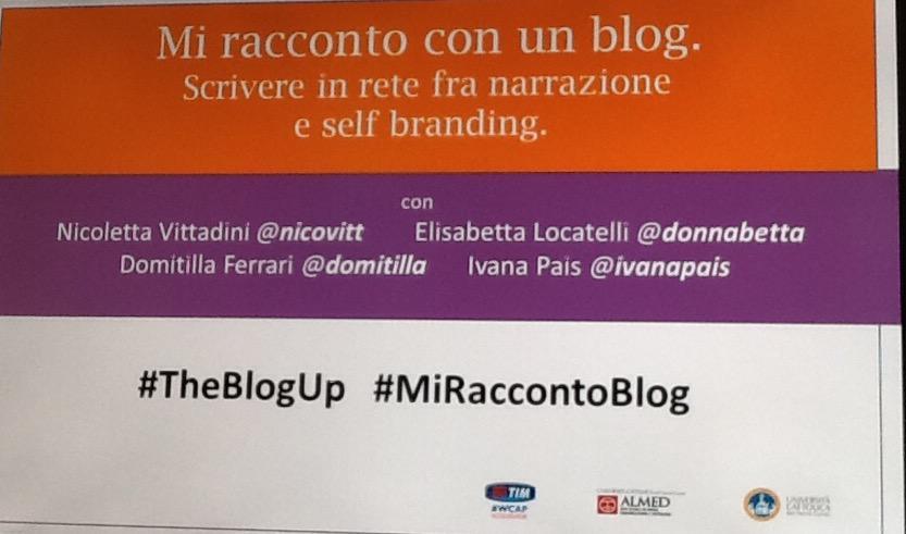 Sta per iniziare #miraccontoblog #theblogup con @DonnaBetta @domitilla @nicovitt @ivanapais presso @timwcap Milano http://t.co/50ctKsemuS