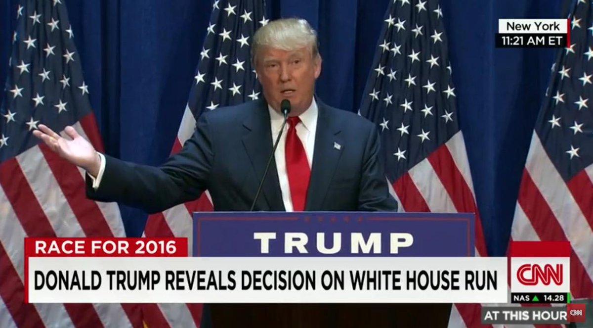 FOTO VIDEO Donald Trump si candida alla presidenza degli Stati Uniti. Qual'è la vostra opinione?