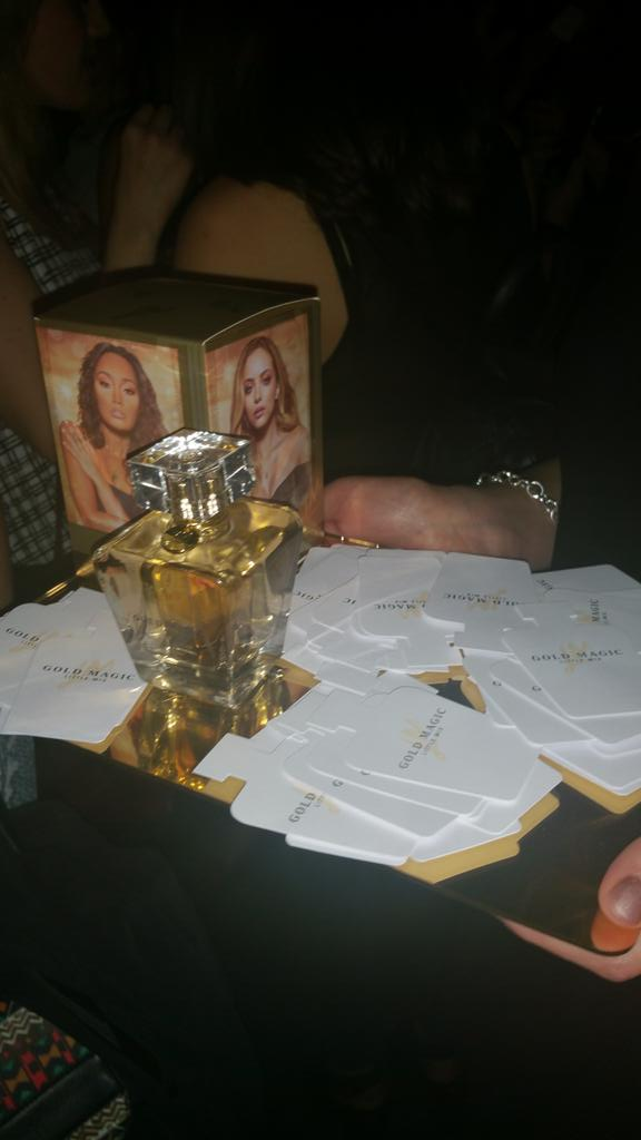 We're at the exclusive launch party for @LittleMix's fabulous new fragrance #GoldMagic http://t.co/XQMjJtXDFJ