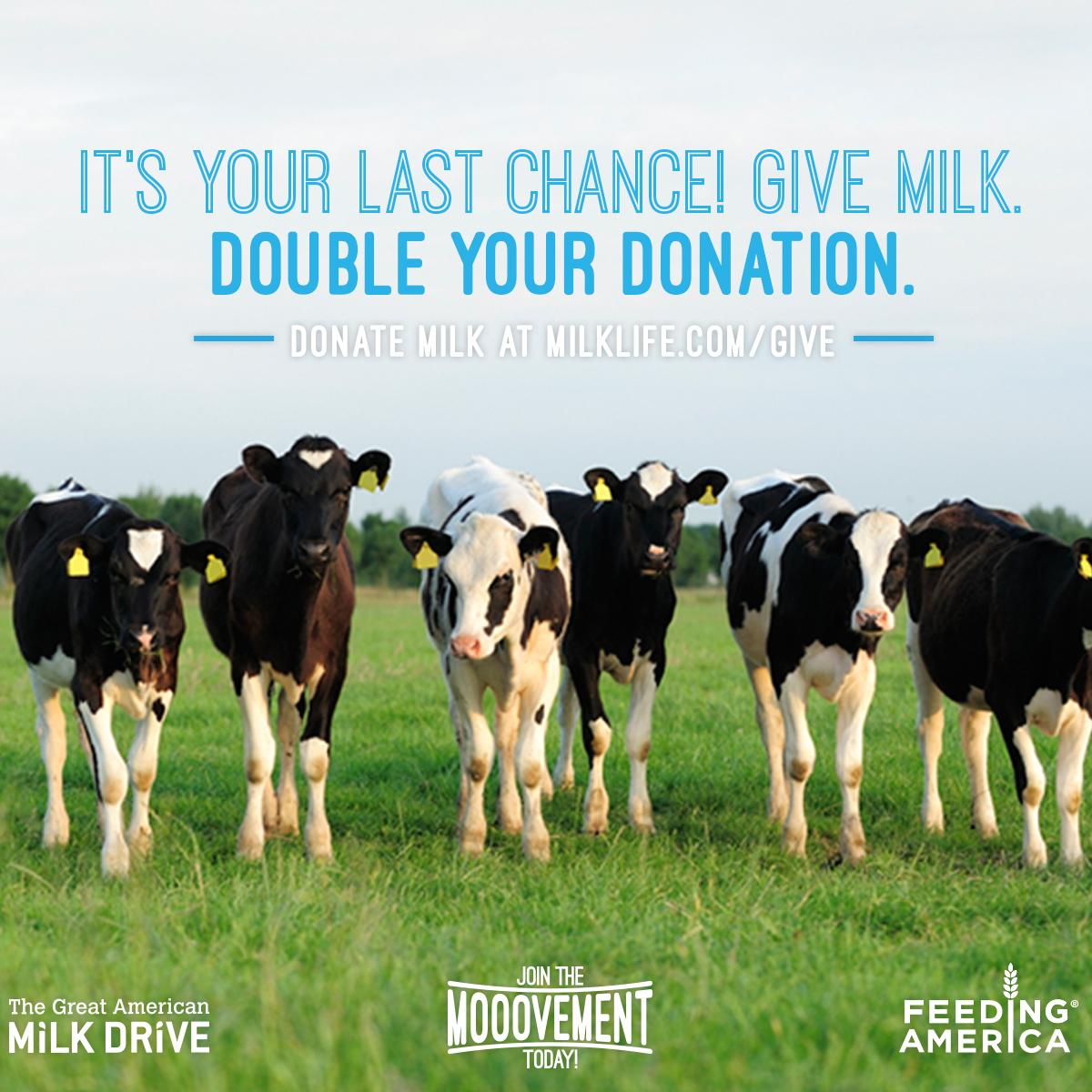 The Mooovement isn't over yet. You can still double your milk donation...