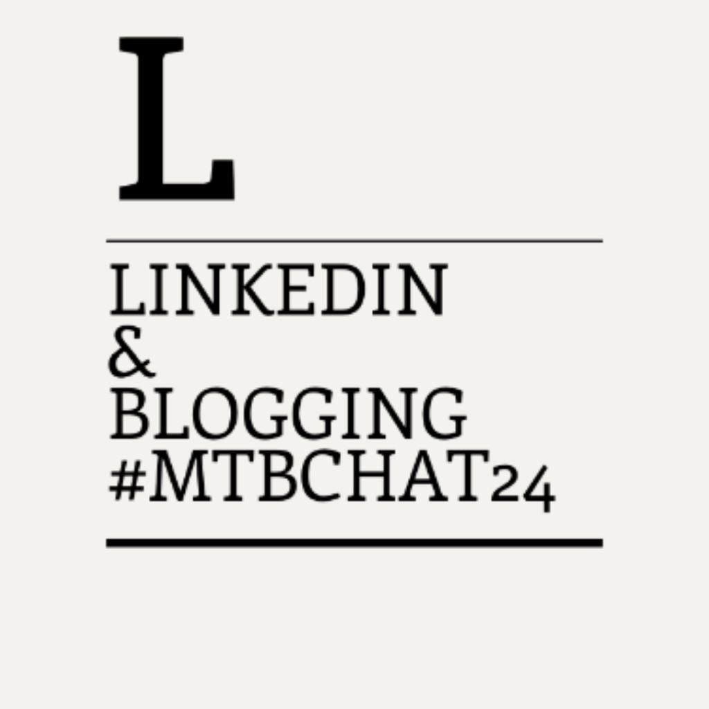 We're starting with #MTBchat now. Subject: LinkedIn & Blogging http://t.co/kdvjYKeazA