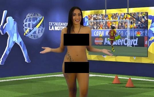 Apresentadora nua venezuela copa america