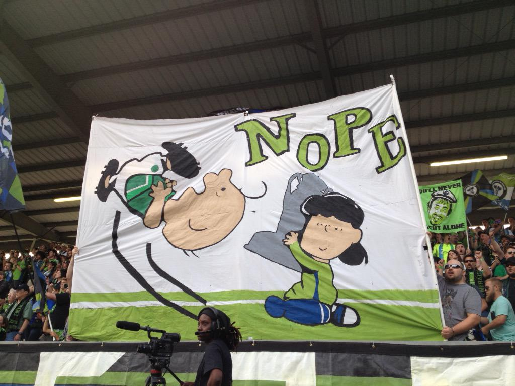 Nope! @WeAreECS sending a message to the Timbers. http://t.co/BrY1jFG580