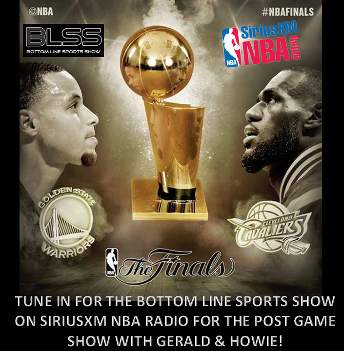 GAME TIME! WHO'S GONNA TAKE IT #CAVS/#WARRIORS? CATCH @GeraldBLSS & @HowieCee1 AFTER THE GAME @SiriusXMNBA #NBAFinals http://t.co/G9bJ0u0xzZ