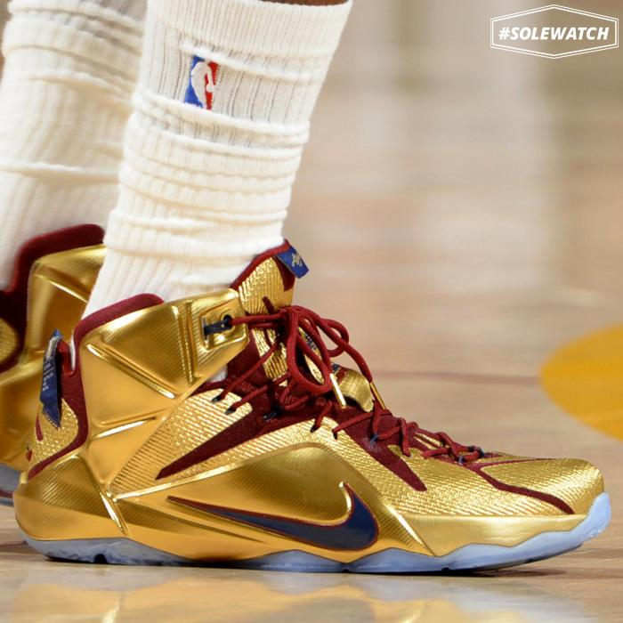 a8496206919 solewatch up close with cavs kingjames gold nike lebron 12 pe for game 6 of  the
