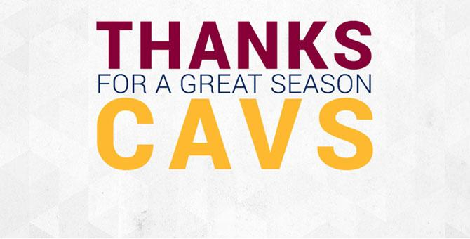 Thanks for a great season @cavs! #ALLinCLE http://t.co/nwKfR69E5i