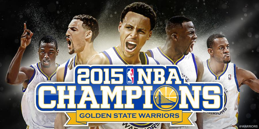 The wait is over – Your Golden State #Warriors are #NBA CHAMPIONS!!! #GSW #NBAFinals http://t.co/3xxxrnJbJN