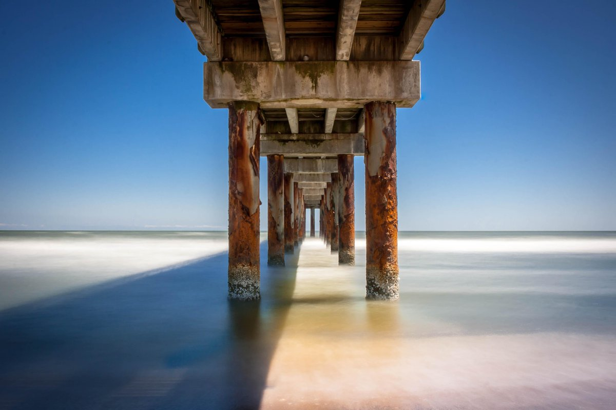 A beautiful view underneath the pier at Anastasia #StatePark. Photo courtesy of Shaun McLane #FLStateParks #LoveFL http://t.co/wbjx5gF8VW