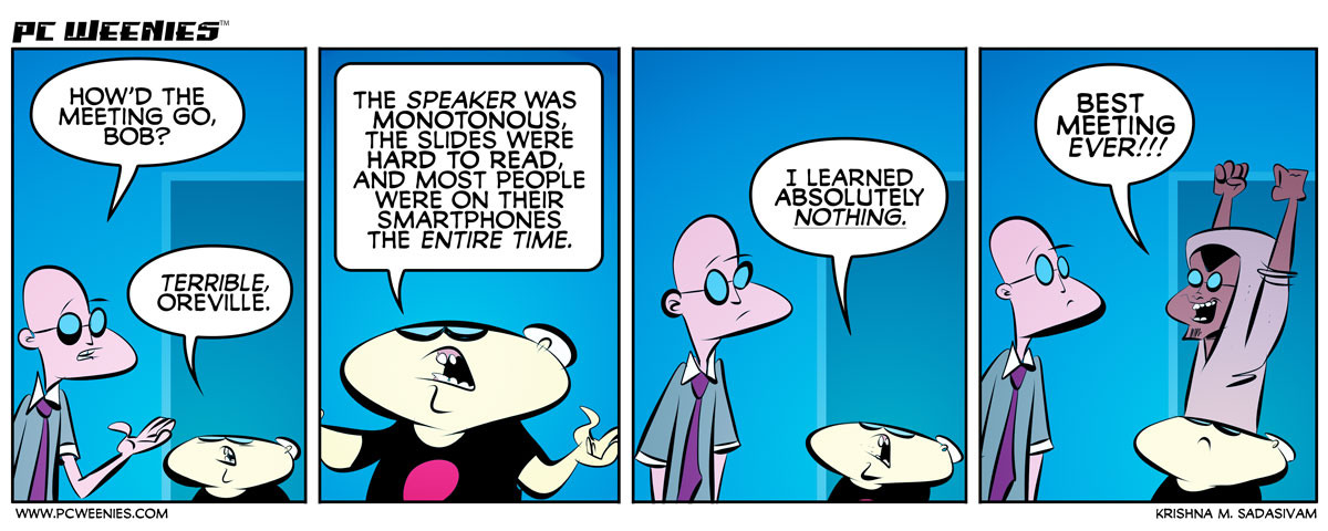 New PC Weenies comic: Nothing Matters http://t.co/vh6Vr7AemH - more #office #humor toons: http://t.co/JGxifcpWbZ http://t.co/JFOqmXjryZ