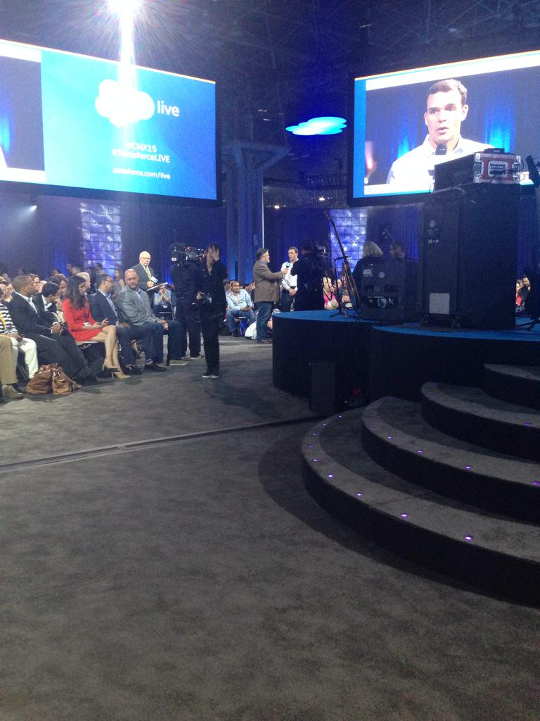 Front row for fireside chat! #CNX15
