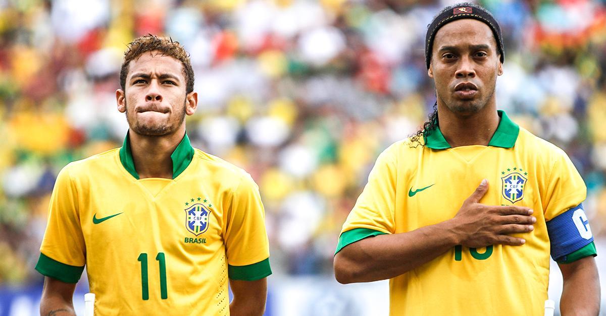 Image result for Ronaldinho with Neymar
