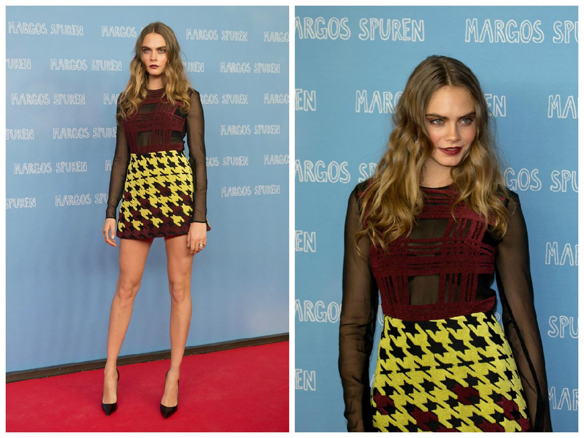 All of @Caradelevingne 's looks on her @PaperTownsMovie press tour. http://t.co/G3yaBz2yL9 http://t.co/4T1OxrMRQP