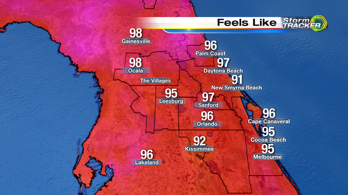 We're heating up quickly! Here's how it feels right now! http://t.co/i0ASoC8yLB