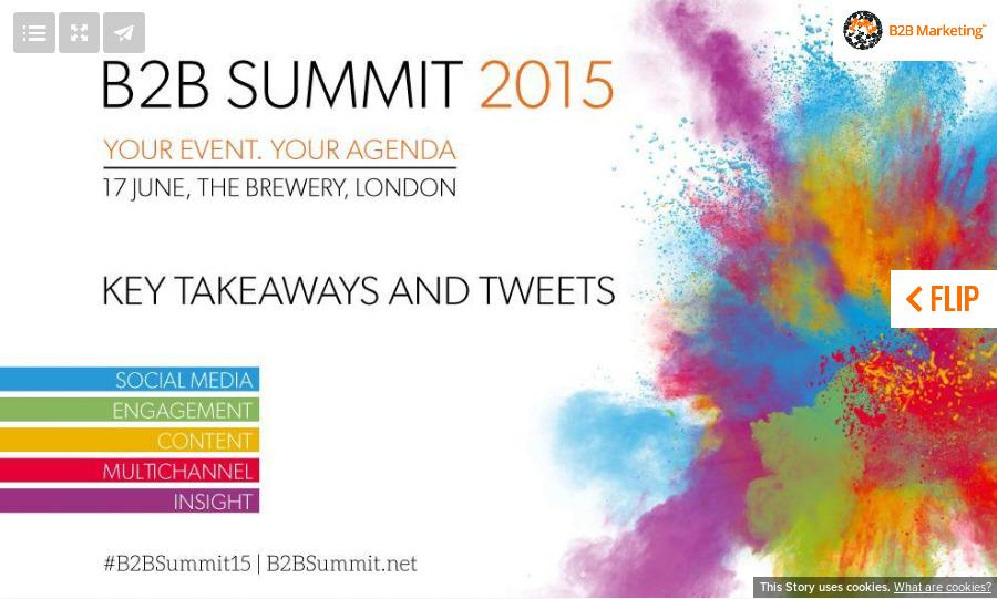 Here are the best bits from today: https://t.co/Fu5WcNbu9E #B2BSummit15 http://t.co/OjnQd3PSar