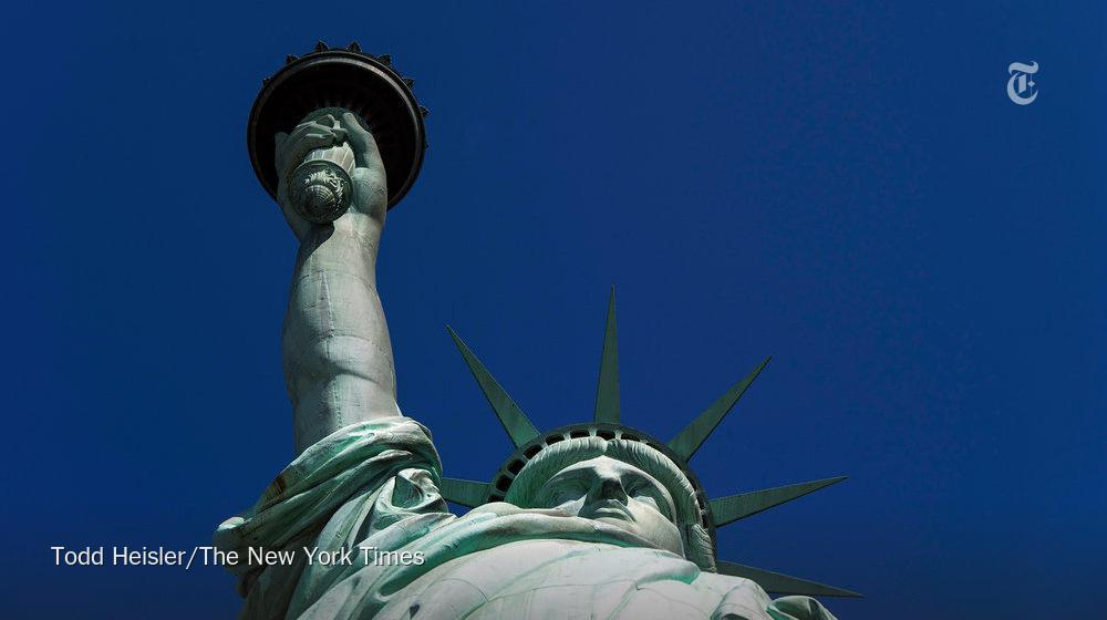 The Statue of Liberty arrived in New York Harbor 130 years ago today, on June 17, 1885. Here she is in 2015.