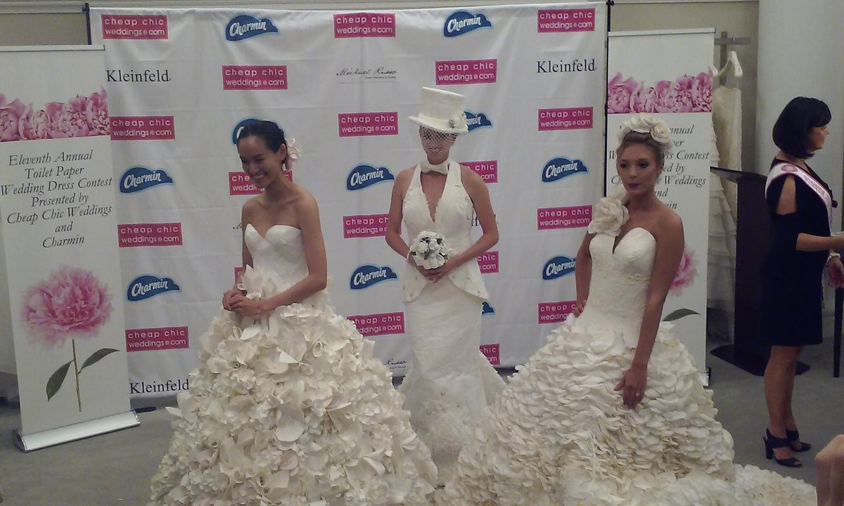 Congrats TOP 3! Donna Pope Vincler, Mimoza Haska, & Carol Touchstone! @Charmin @MikieRusso @KleinfeldBridal http://t.co/5uEhvTLQsO