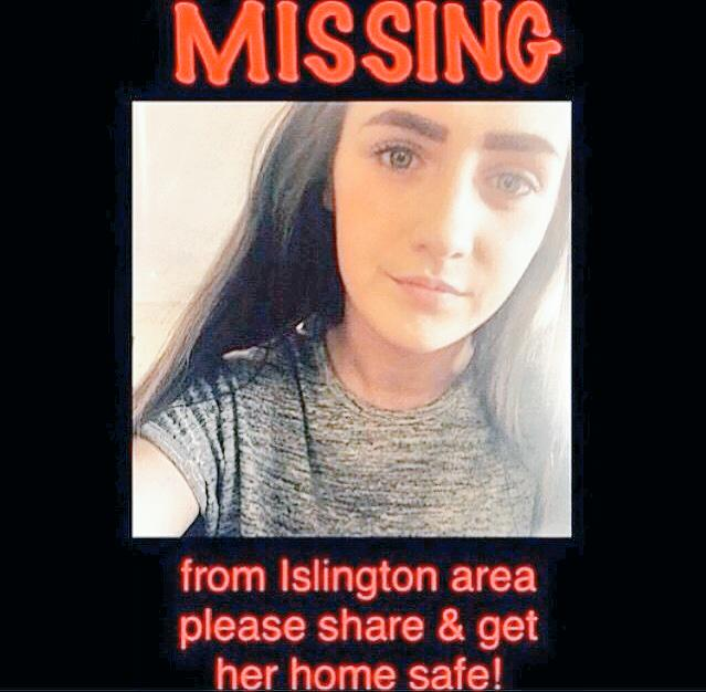 ⚠️ PLEASE RT ⚠️  Missing Islington Girl http://t.co/AboyXKkNHF