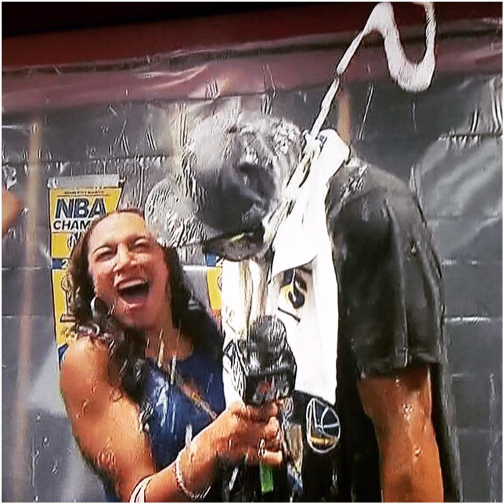 "Rosalyn Gold-Onwude on Twitter: ""Champagne showers while getting lockerroom interview w Finals ..."