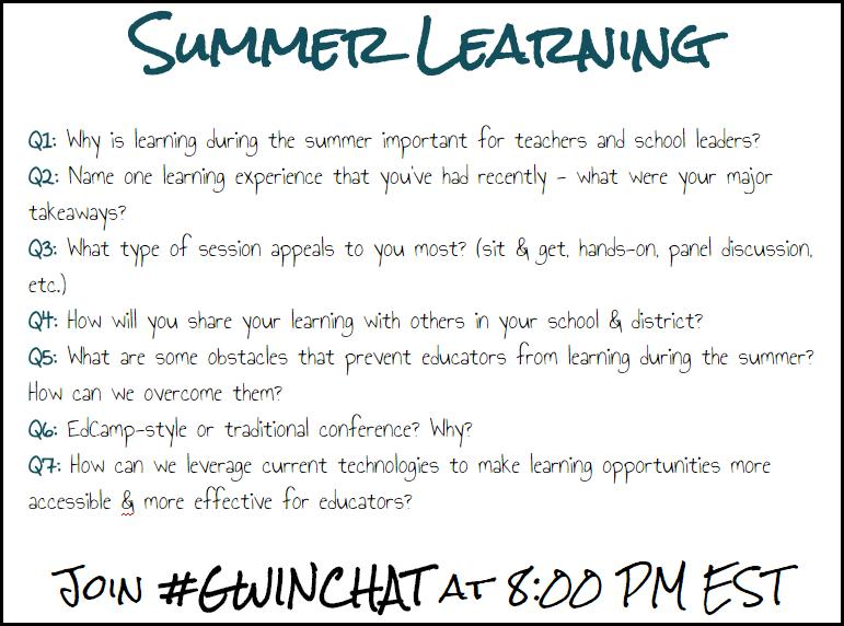 10 minutes away from the start of an awesome #Gwinchat! Here is your question preview! http://t.co/wlIyyisyUW
