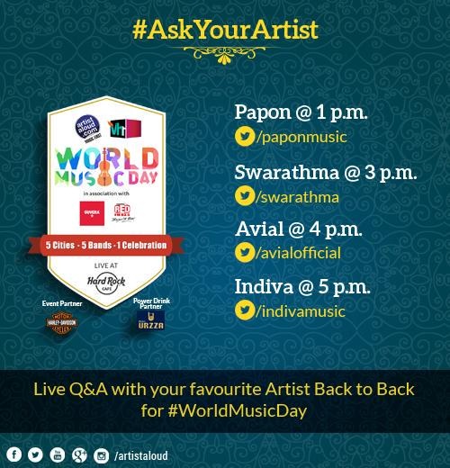 """""""You want answers?"""" """"I think I'm entitled to them""""  Join the #AskYourArtist Q&A #worldmusicday @ArtistAloud http://t.co/PBqjG6CEYz"""