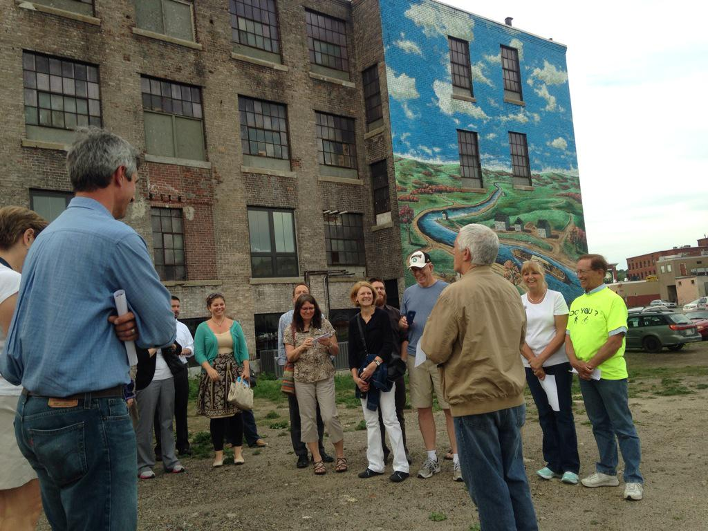 Allen Fletcher from the Canal District Alliance explains the history of the area around Green & Water St #WalkTheWoo http://t.co/0jgrbQjcCc