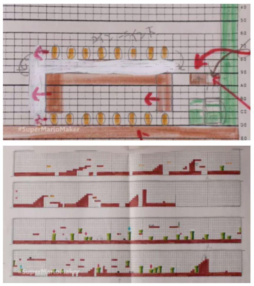Nintendo designers used graph paper to design Super Mario Bros, handing programmers drawings. http://t.co/URGZdXoXMR http://t.co/PXqwbTypm8