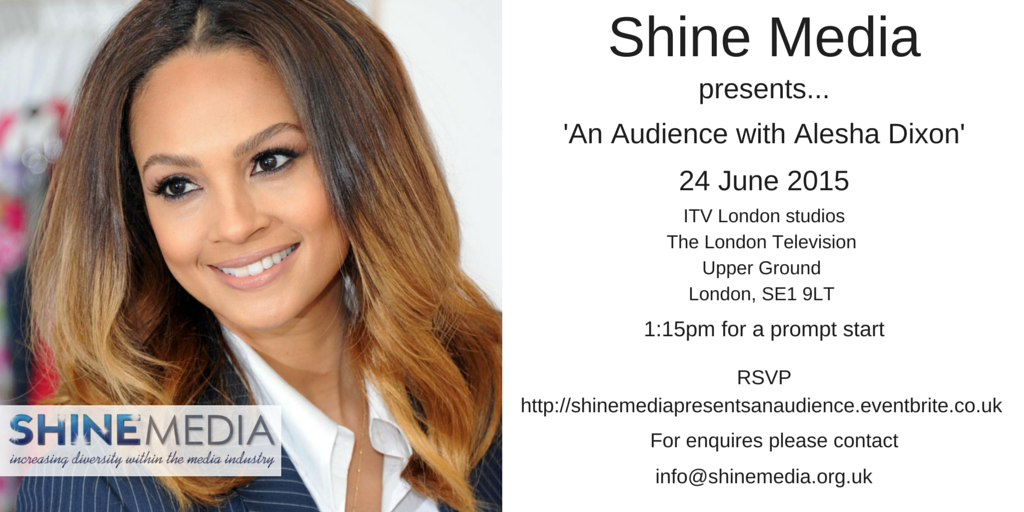 Announce that @aleshaofficial will be our special guest next Wednesday at the @shine_mediauk production. http://t.co/9ff4jh2eFw