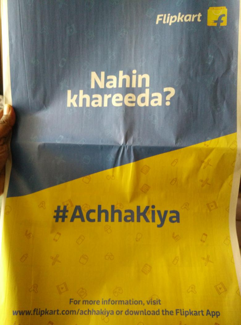 Flipkart wasted  their marketing spend in front page advt in the Hindu in Hindi for Chennai edition ! http://t.co/qea1V99SJd