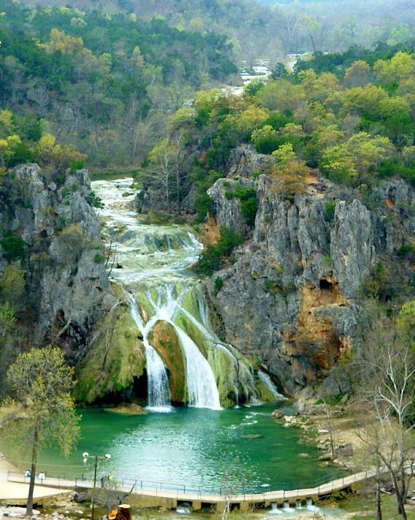 Normal vs today at Turner Falls, OK. http://t.co/Jj3rIgDOnV