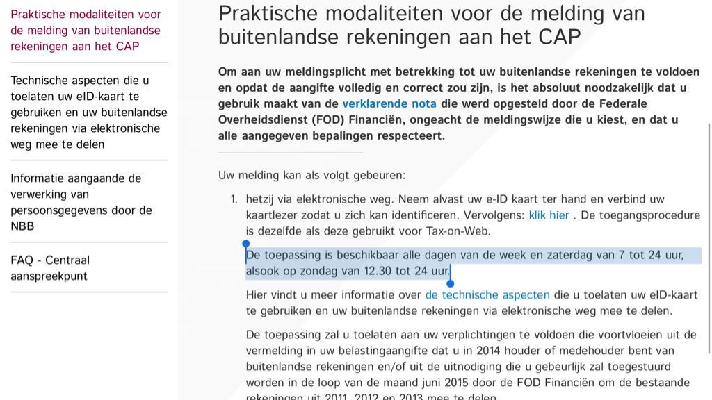 België. Het land waar online (!) toepassingen van de overheid openingsuren hebben. #stopdewaanzin http://t.co/7Z6LXrfOcC