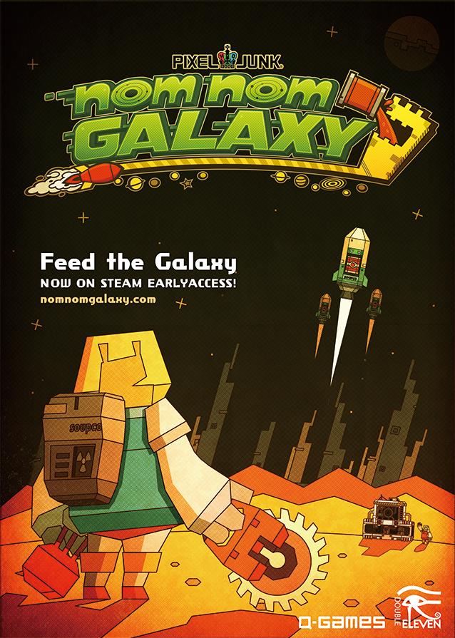 #NomNomGalaxy is $2 during the #PixelJunkSteamFlash sale! ! http://t.co/3EQ6NR94e8 RT 4 chance at PixelJunk t-shirt! http://t.co/5axBildfZb