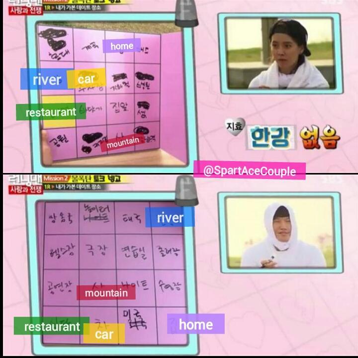 """김종국 ♡ 송지효 on Twitter: """"Ep251 #spartace bingo board ..."""