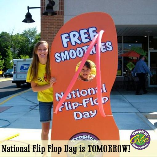 FREE 24 Jetty Punch Smoothies from 2-7pm TOMORROW at all cafes if you're wearing flip flops! #TSCFlipFlop http://t.co/hHQKqGrkJJ