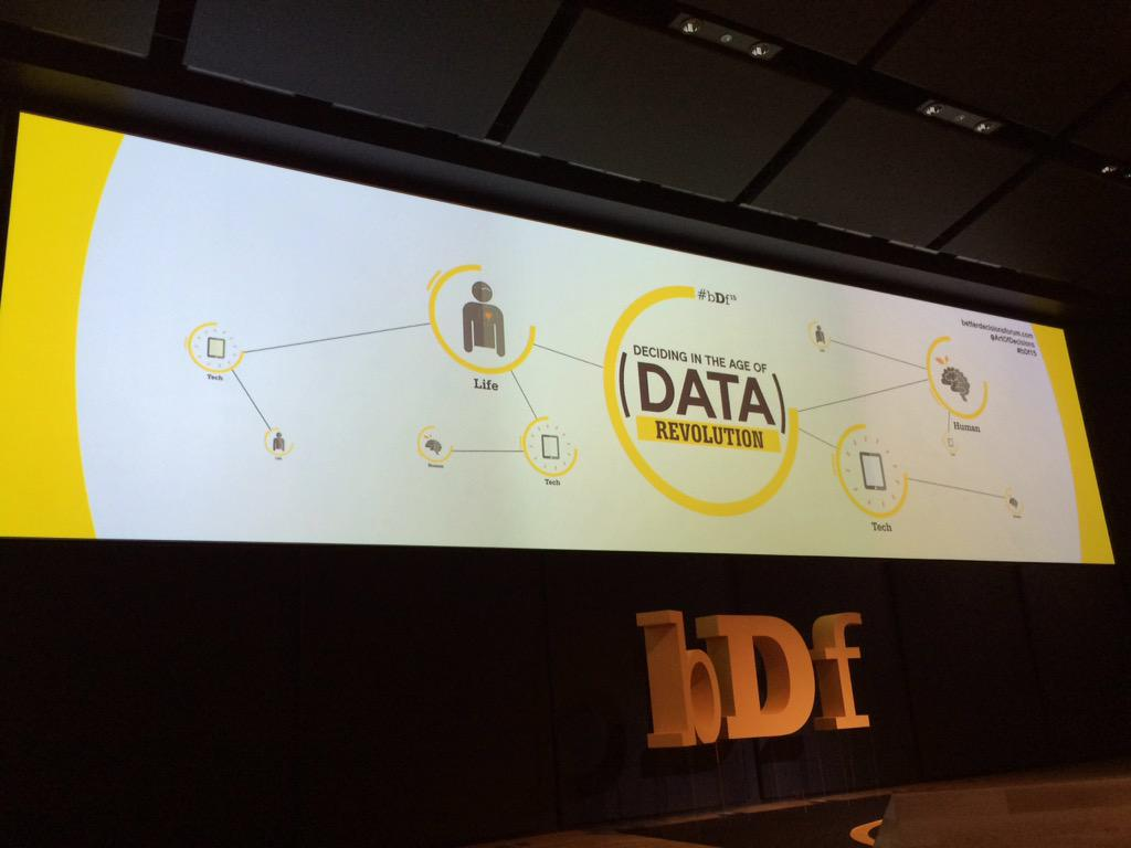 "Blue BI in diretta dall'evento ""Deciding in the age of Data Revolution"" #bDf15 http://t.co/Lc7VVfLqlO"