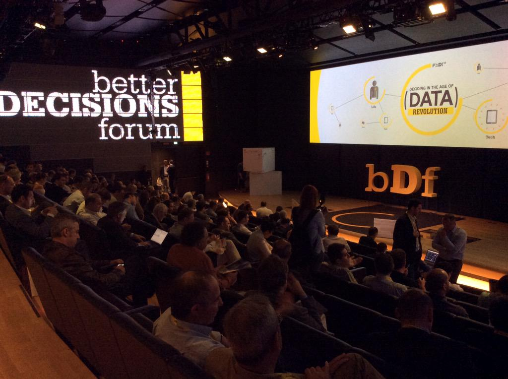 We are ready to start #bDf15 @ArtOfDecisions - Deciding in the age of data revolution - #bigdata #decisionmaking http://t.co/qoUvbioPYT