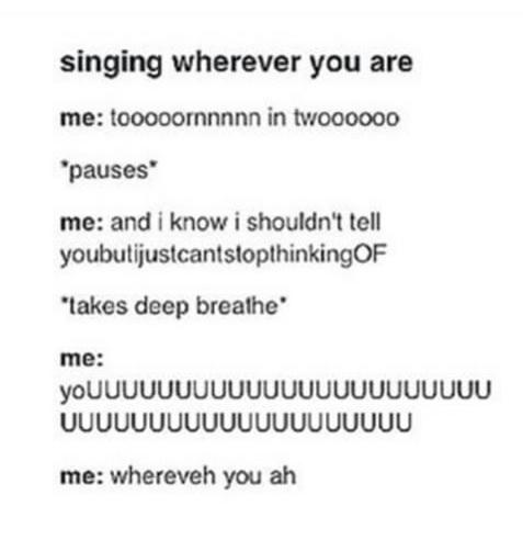 "5SOS TUMBLR POSTS on Twitter: ""Me singing wherever you are ..."