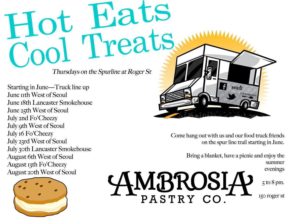 "DailyDish: ""Hot Eats Cool Treats"" today at 5pm @Ambrosia_Pastry teams up w/ @LancSmokehouse  http://t.co/Ecgbjgqdpu http://t.co/OQmwU8XyJ5"