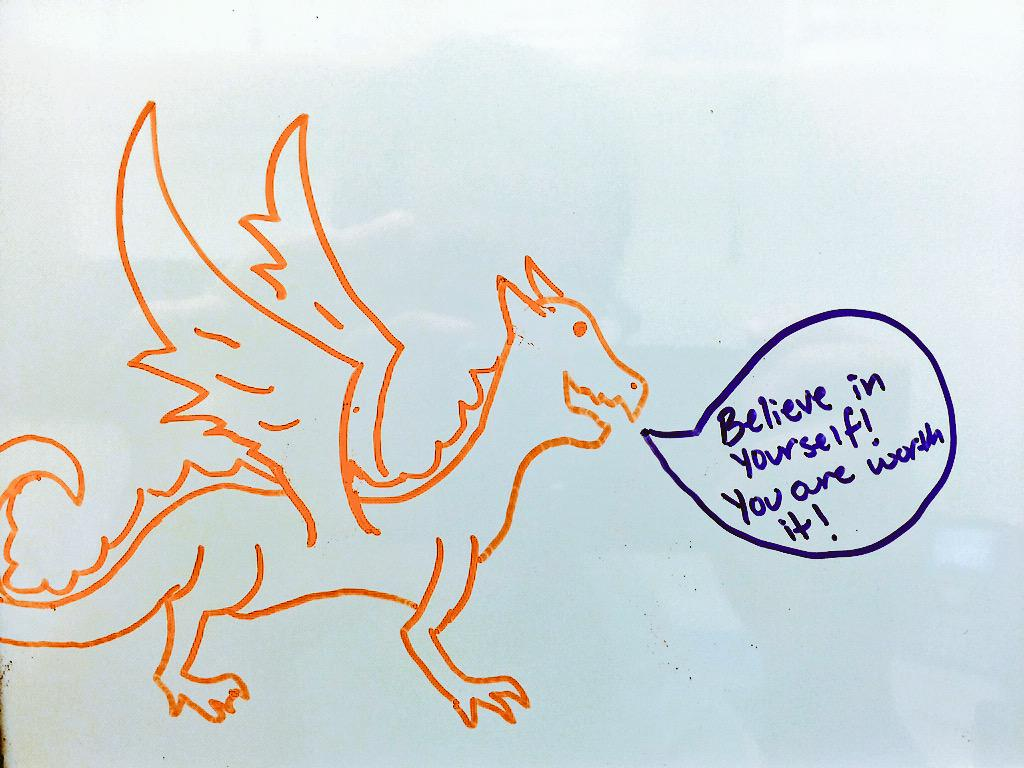 I drew a dragon to lift your spirits. http://t.co/dkvhFT91i7